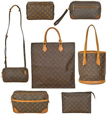 Lot of 7 LOUIS VUITTON Monogram Handbags Sac Plat Trousse Marly Dragonne Bucket