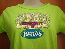 NERDS juniors large University T shirt Willy Wonka candy 1980s NEW with tags OG