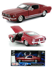 Maisto 1/24 Scale 1967 Ford Mustang GT Red Diecast Car Model 31260