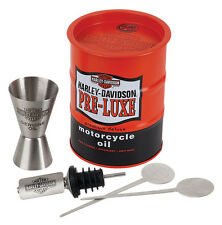 Harley-Davidson® Oil Drum Tin & Stainless Steel Cocktail Bar Gift Set HDL-18547