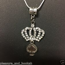 """Queen of Spades Necklace"" Hotwife Swinger  BBC QOS Fetish Cuckold Cuck Jewelry"