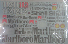 1/8 McLaren Honda MP4/4 Decal for Deagostini Senna Prost