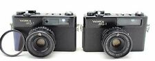 Yashica MG-1, 2x vintage 35mm rangefinder camera, lens Yashinon 45mm 1:2.8
