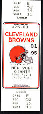 Cleveland Browns vs New York Giants August 6 1995 Unused Ticket Stub Preseason