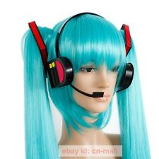 Hatsune Miku Vocaloid Cosplay Earphone Miku Black Headset Hair Accessory