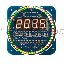 DS1302 Rotating LED Electronic Digital Clock DIY Kit 51 SCM Learning Board 5V
