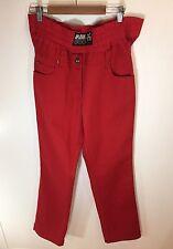 JPG Gaultier Vintage Hip Hop Underwear Logo Red Jeans Size 34