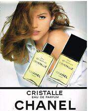 Publicité Advertising 1993 Eau de Parfum Cristalle par Chanel