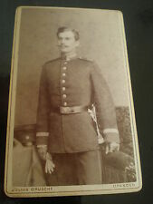 Cdv photograph soldier by julius Grusche at Dresden Germany c1880s