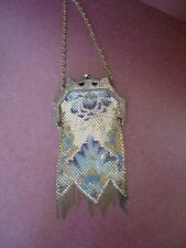 1920'S VINTAGE MESH ENAMEL PURSE -MANDALIAN MFG. CO. OF MASSACHUSETTS