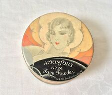 Vintage Deco Atkinsons face powder box, empty