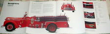 HUGE! SEAGRAVE 1952 FIRE ENGINE POSTER picture print truck