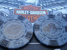 Harley Davidson Grey & Black Poker Chip from St. Kitts
