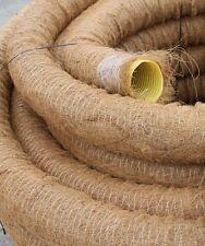 20 m Drainagerohr DN50 gelocht mit Kokosfilter 20 Meter Kokos ummantelt DN 50