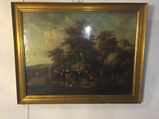 """Lithograph English Hunt Scene.34""""X27"""" Gilded Frame.  See9pix4closeups.MAKE OFFER"""