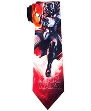 $175 STAR WARS Men`s RED BLACK DARK VADER NECKTIE SKINNY CASUAL NECK TIE 60x3.25