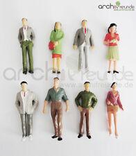 8 x Modell Figuren, stehende, für Modellbau 1:25, Modelleisenbahn LGB Spur G