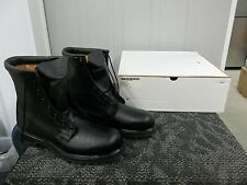 COLD WEATHER LINED MEN BOOT SHOE BLACK STEELTOE SIZE 9.5 9 1/2 N MILITARY NEW