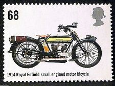 Royal Enfield (1914) British Motorcycle on 2005 Stamp - Unmounted Mint