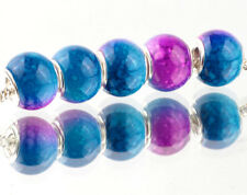 5pcs SILVER MURANO Gradient spacer beads fit European Charm Bracelet DIY AB928