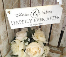 042 PERSONALISED BRIDE AND GROOM WEDDING CHIC PLAQUE SIGN