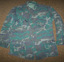 2ND PATTERN ERDL CAMO JUNGLE FATIGUE SHIRT, LARGE-REG, U.S. ISSUE *NICE*