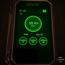 Ultraohms Smok G-PRIV 220W Vape Translucent GREEN Colour Screen Protector Skin