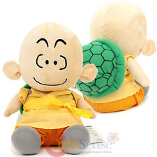 "Dragon Ball Z Krillin Plush Doll with Shell Bag - 11"" Seated Anime Soft Toy"