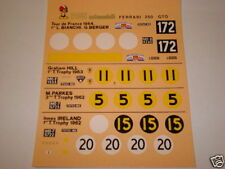 1/43 DECAL FERRAR 250 GTO 1962 5 versioni Tour de France TOURIST TROPHY