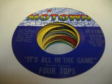 Soul 45 FOUR TOPS It's All In the Game on Motown