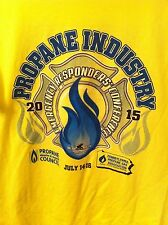 Propane Gas Industry Emergency Responders Conference 2015 Yellow T-shirt XL RARE