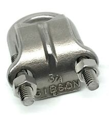 """Gibson 1075 Stainless Steel 3/4"""" U-Bolt & Saddle Right-Angle Clamp 316SS"""