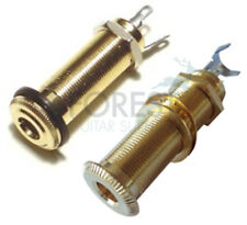 Guitar Jack Output stereo 6.3mm Barrel style Gold