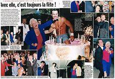 Coupure de presse Clipping 1998 (2 pages) Anniversaire Line Renaud 70 ans