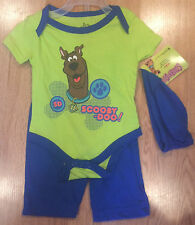 Scooby Doo Boy's 3 Piece Outfit Size 0-3 Months NWT