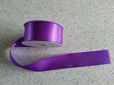 38mm wide double sided satin ribbon - choice of colours - price is per metre