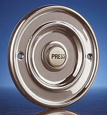 Byron Wired Door Bell Flush Fitting Push Button Polished Chrome 63 mm Brand New