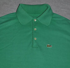 vtg Izod LACOSTE Polo Shirt GREEN Crocodile Logo Men's MEDIUM M 80s Short Sleeve