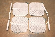 "20 ELECTRODES SELF-ADHERING ELECTRODES, FABRIC REUSABLE, 2""X2"" - TAN + 9V batery"