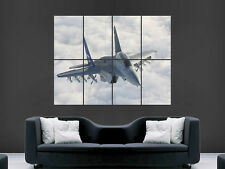 MIG 35 FIGHTER JET ARMY MILTARY PLANE SKY  ART WALL LARGE IMAGE GIANT POSTER