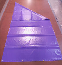 """New Playset Purple 13 oz PVC Tarp with Brass Grommets - 58"""" x 120"""" - Made in USA"""