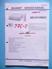 Service Manual-Anleitung Sharp MD-R1H MK2 ,ORIGINAL