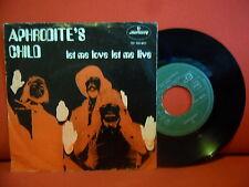 APHRODITE'S CHILD Let Me Love Let Me Live 7/45 PORTUGAL UNIQUE PSYCHIC SLEEVE