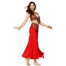 Bollywood Carnival Outfits Sets Belly Dance Costume Bra Top Belt Hip Scarf Skirt