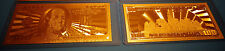 24 Kt 99.9% Gold 100 Dollar Bill - 2009 - Comes In Rigid Pvc Bill Holder