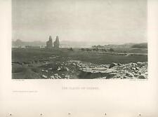 ANTIQUE EGYPT THEBES NO AMMEN NILE RIVER DESERT CAMELS NOMADS J. L. GEROME PRINT