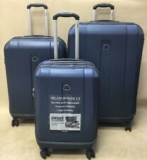 "Delsey Helium Shadow 3.0 Set 21"" Carry On & 25"" & 29"" Exp Spinner Suitcases Blue"
