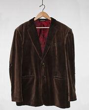 Affliction Red Label Premium Leather Cross Velvet Blazer Size L 44-46