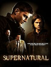 "Supernatural TV Show Silk Cloth Poster 20 x 13"" Decor 125"