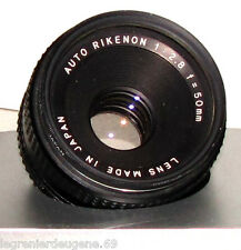 Objectif RIKENON Auto 1:2.8 f=50mm Monture M42 Mount /// Bon Etat-Good Condition